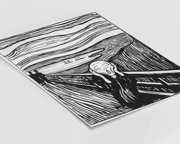 Bilde av The Scream Illustration By Munch plakat
