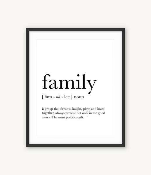 Bilde av FAMILY DEFINITION POSTER