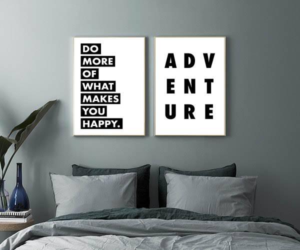 Bilde av HOW TO BE HAPPY POSTER