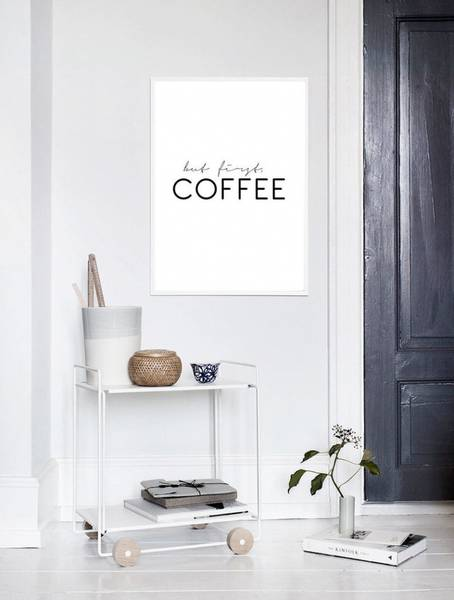 Bilde av BUT FIRST COFFEE POSTER