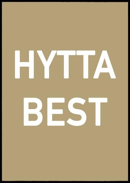 Bilde av Hytta best plakat