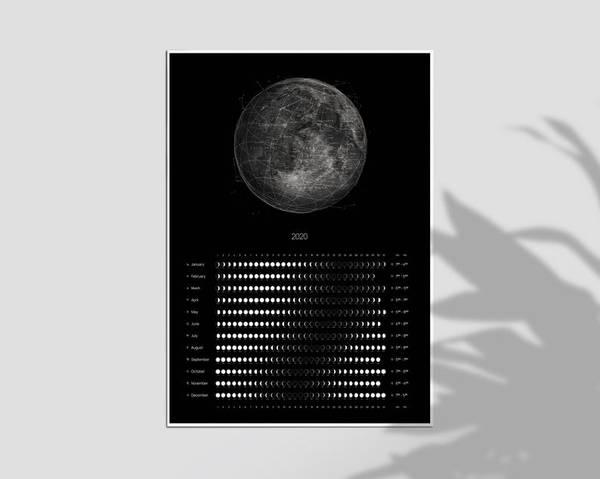 Bilde av MOON PHASES CALENDAR 2020 POSTER