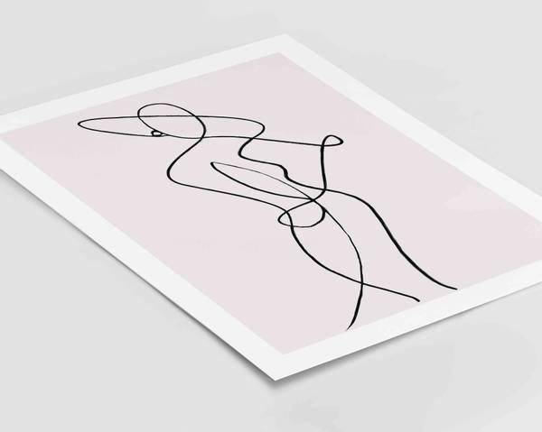 Bilde av Female abstract line no 3 plakat