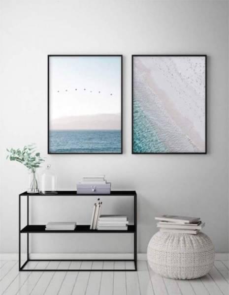 Bilde av PASTEL BLUE SEA POSTER