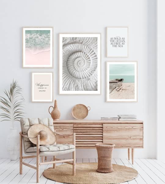 Bilde av Azur strand plakat