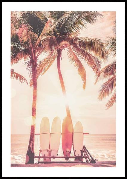 Bilde av SUNNY SURFER BEACH PLAKAT