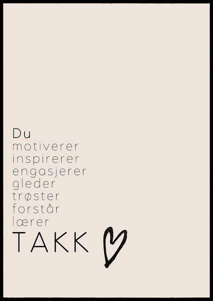 Bilde av TAKK BARNEHAGEANSATT PLAKAT