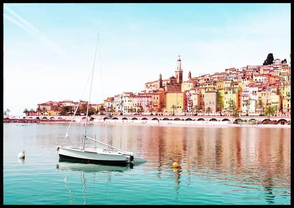 Bilde av Menton Côte d'Azur Frankrike plakat