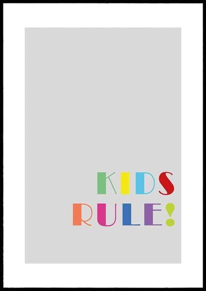 Bilde av KIDS RULE PLAKAT