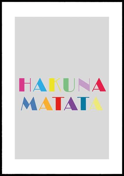 Bilde av HAKUNA MATATA PLAKAT