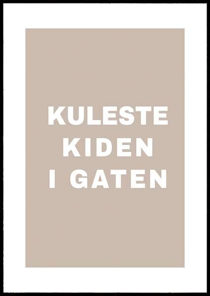 Bilde av KULESTE KIDEN I GATEN PLAKAT