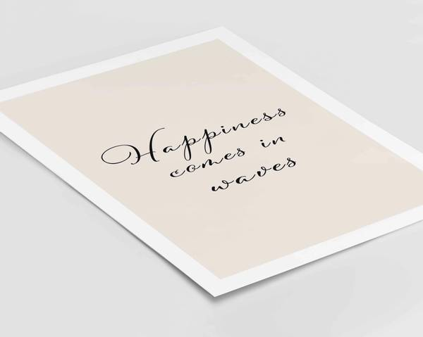 Bilde av Happiness comes in waves plakat