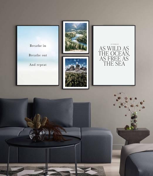 Bilde av River through the woods plakat