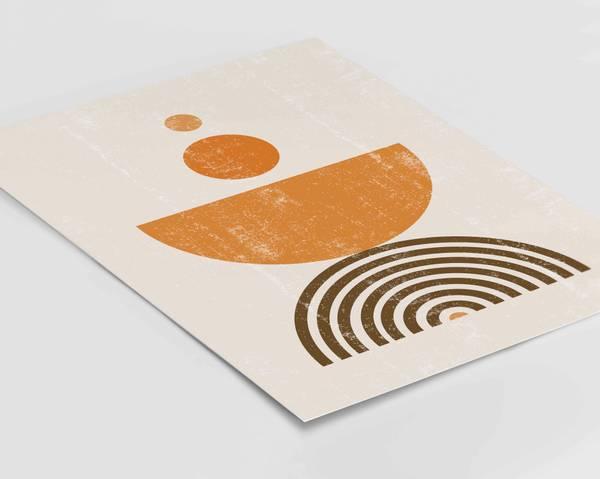 Bilde av Orange shapes plakat