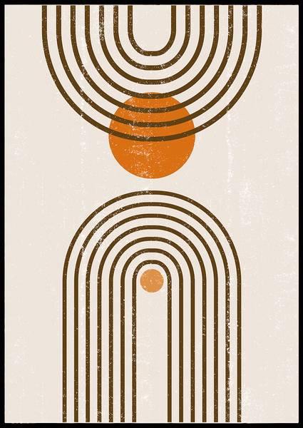 Bilde av Orange abstract bows plakat