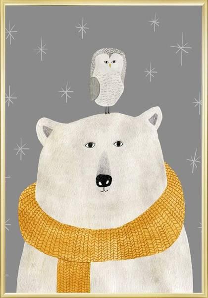 Bilde av BEAR AND OWL POSTER
