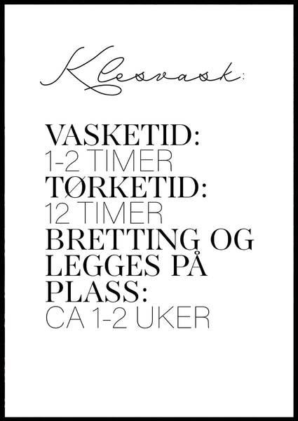 Bilde av KLESVASK PLAKAT