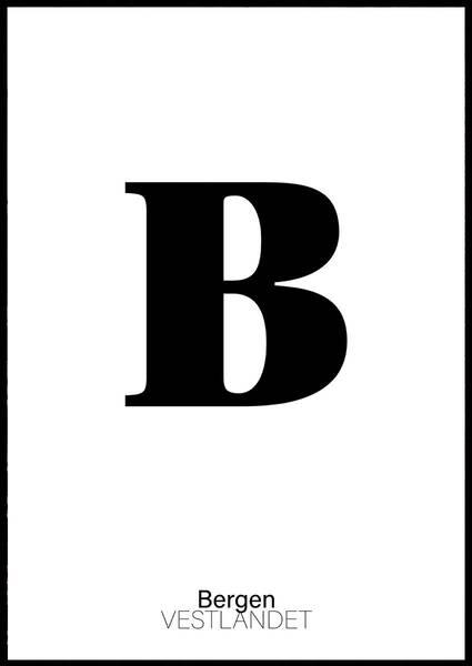 Bilde av B FOR BERGEN PLAKAT