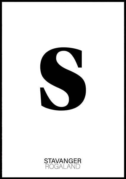 Bilde av S FOR STAVANGER PLAKAT