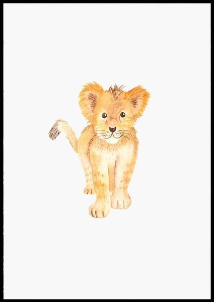Bilde av TINY LION PLAKAT