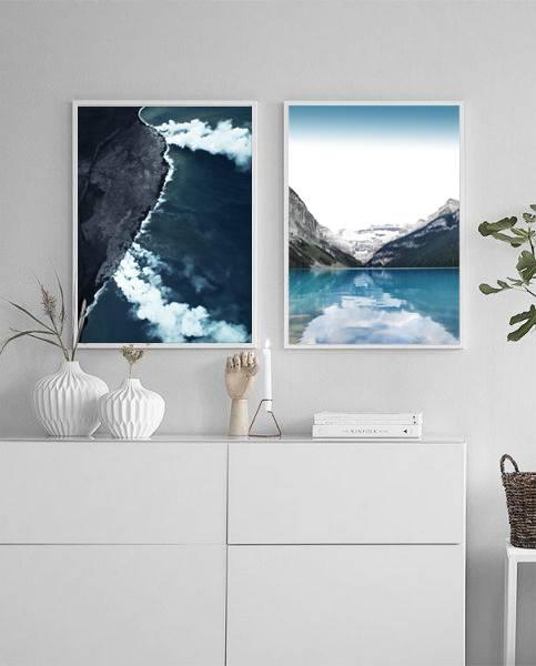 Bilde av ICE BLUE LAKE POSTER