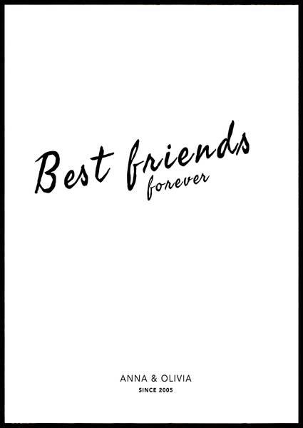 Bilde av BEST FRIENDS FOREVER PERSONLIG PLAKAT