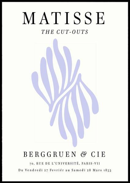 Bilde av Matisse The-cut outs lilla kunstplakat