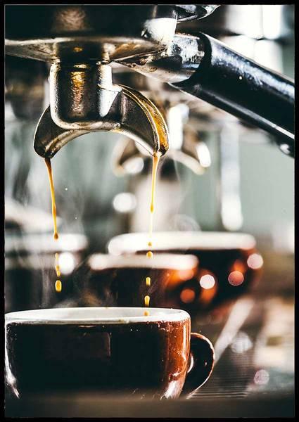 Bilde av Making coffee plakat