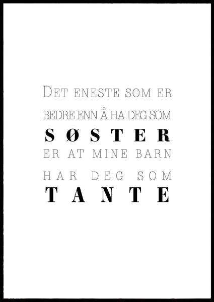 Bilde av SØSTER OG TANTE PLAKAT