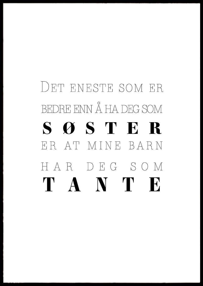 SØSTER OG TANTE PLAKAT