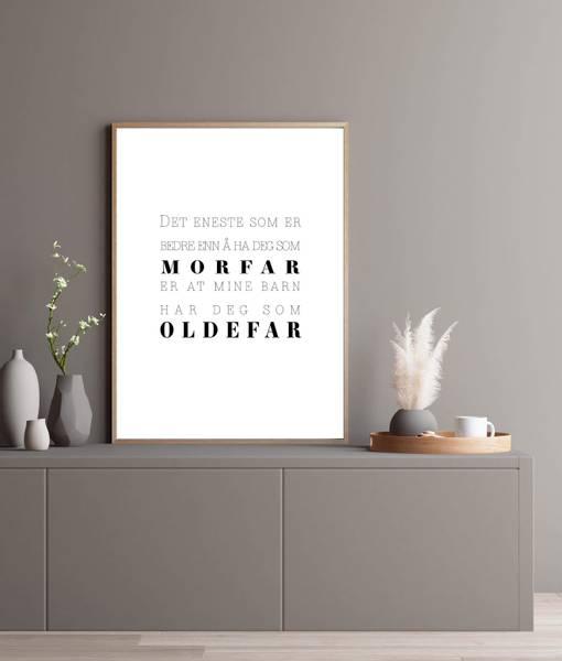 Bilde av MORFAR OG OLDEFAR PLAKAT
