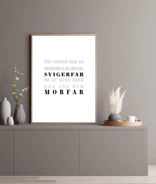 Bilde av SVIGERFAR OG MORFAR PLAKAT