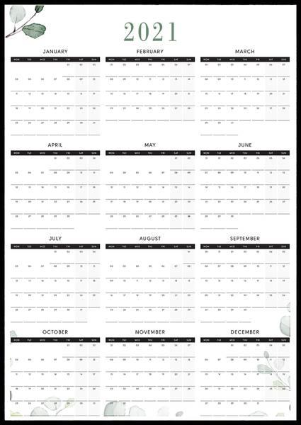 Bilde av Leafs 2021 kalender
