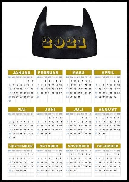 Bilde av Batman 2021 kalender