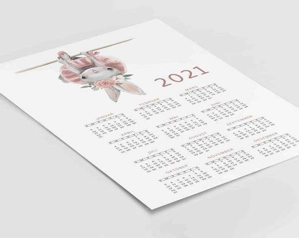 Bilde av Kanin oppned 2021 kalender