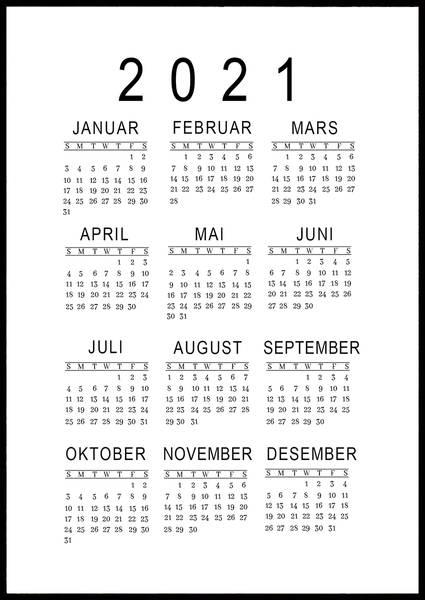Bilde av Minimalistisk 2021 kalender