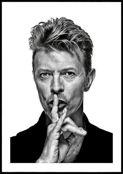 Bilde av David Bowie ikonisk plakat