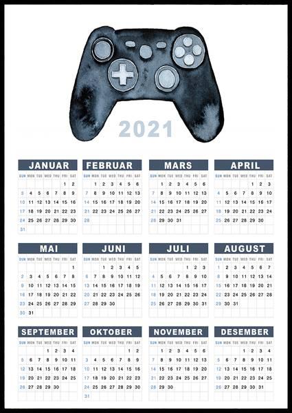 Bilde av Gaming 2021 kalender