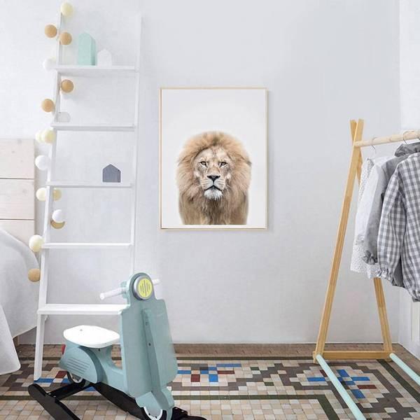 Bilde av KIDS ANIMALS LØVE POSTER