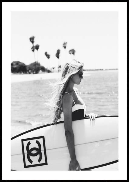 Bilde av Chanel surfboard ikonisk plakat