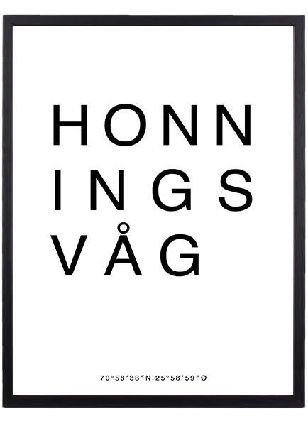Bilde av HONNINGSVÅG POSTER