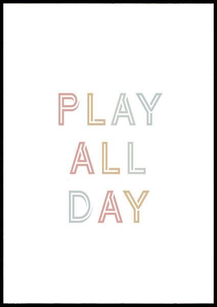 Bilde av PLAY ALL DAY PLAKAT