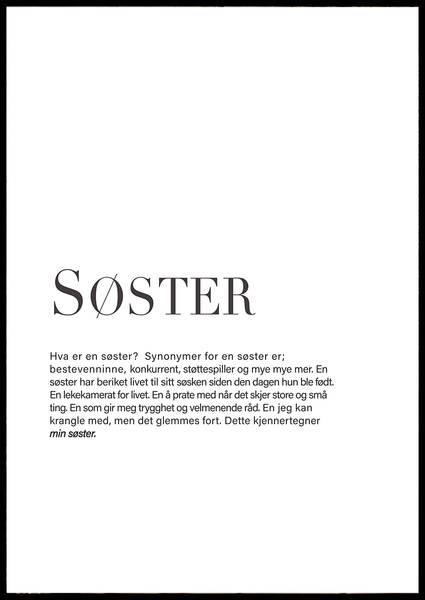 Bilde av SØSTER PLAKAT