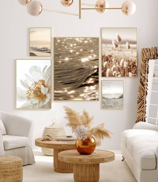 Bilde av Reeds on the beach plakat