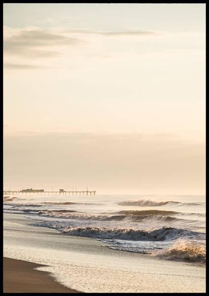 Bilde av Beach waves plakat