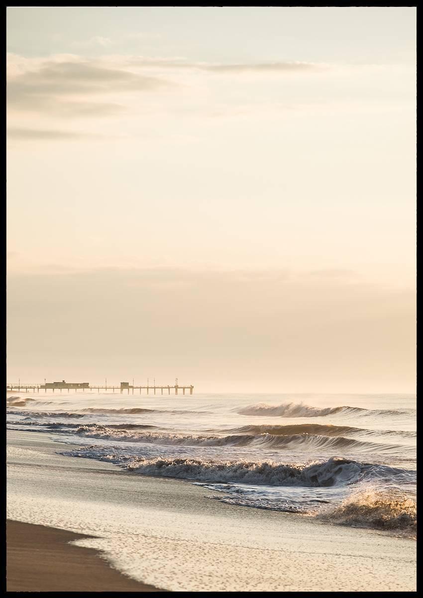 Beach waves plakat