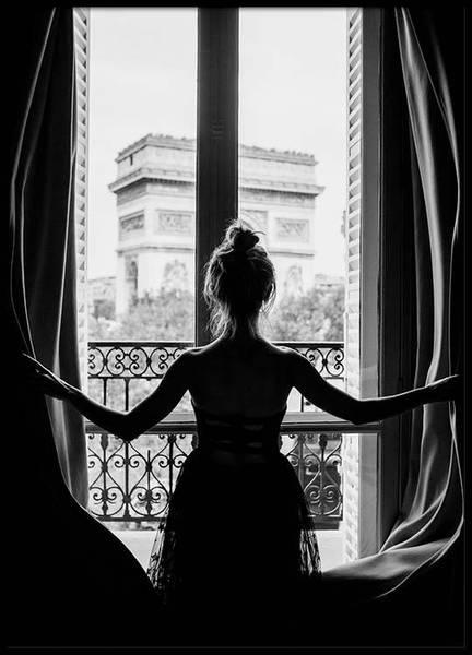 Bilde av GIRL IN WINDOW POSTER