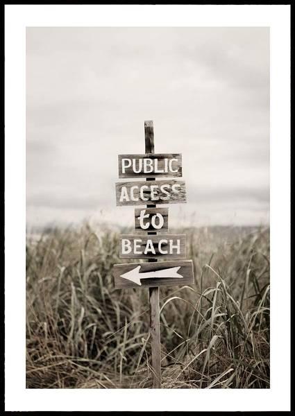 Bilde av ACCESS TO THE BEACH PLAKAT