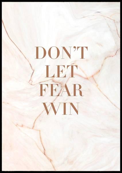 Bilde av DON'T LET FEAR WIN PLAKAT