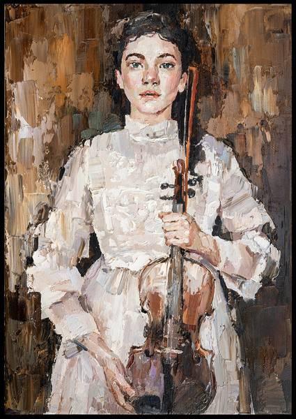 Bilde av Girl with violin plakat